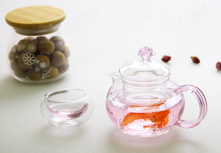 Extraordinarily high heat resistant glass teapot glass teapot flower tea sets teapot high temperature red teapot new