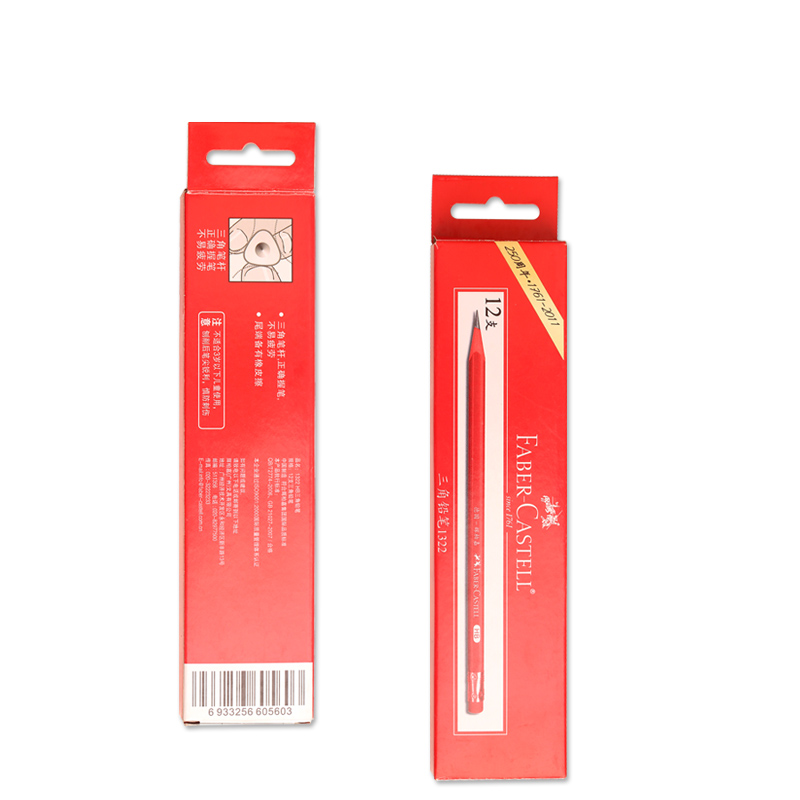 Faber faber 1322 triangular pencil student with a pencil eraser | triangle pencil | 12 only installed