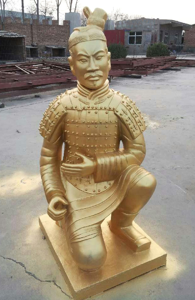 Factory direct large gold and silver antique terracotta terracotta xi'an features arts and crafts ornaments 195 cm