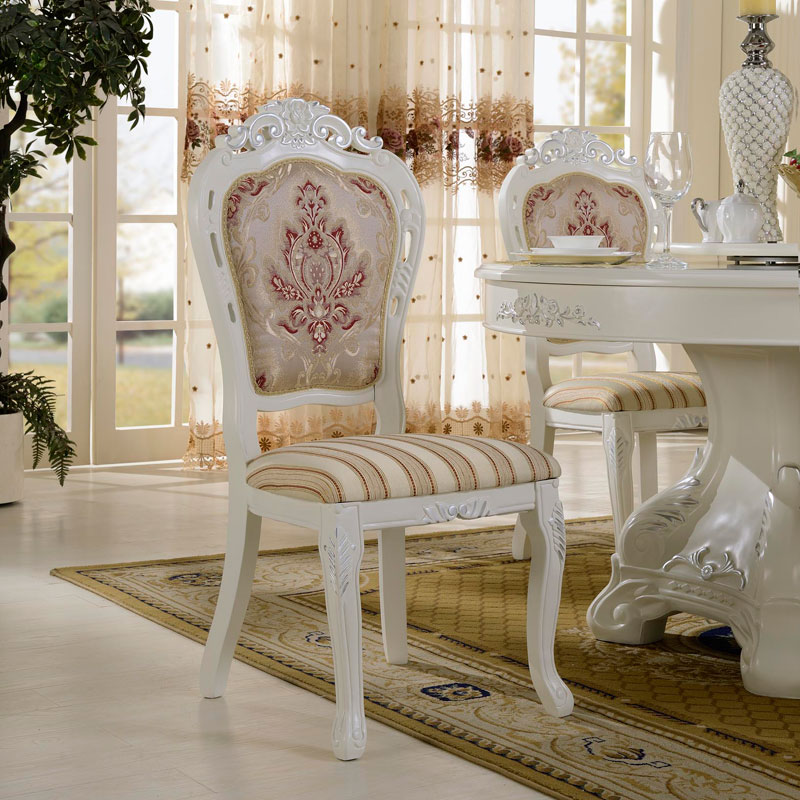 Fala dan benton zm continental carved chair chair french ivory white european wood dining chair dining room furniture