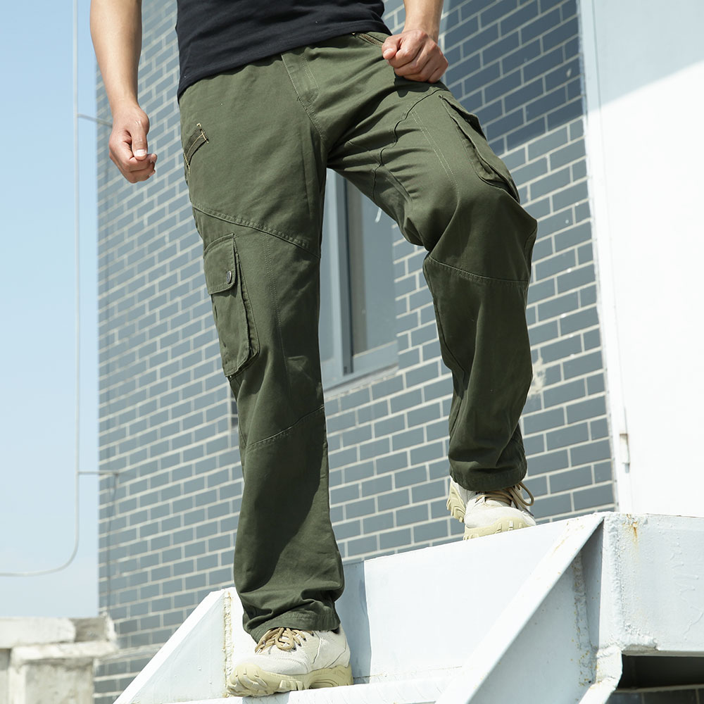 7408555f629f2 Get Quotations · Falcon base for outdoor army green military fans tactical  pants overalls bags of loose trousers men