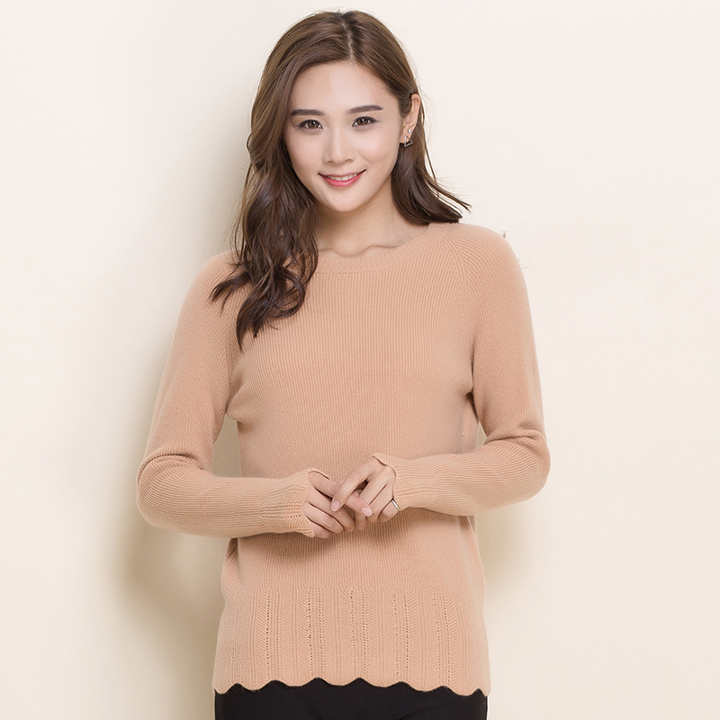 Fall and winter clothes new round neck cashmere sweater female short paragraph slim hedging sweater knit cashmere sweater bottoming slim version