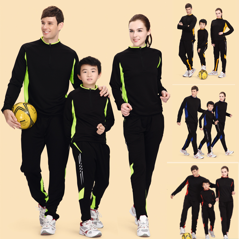 Fall and winter football adult children clothes long sleeve suit trousers football training pants riding pants leg trousers football sweater