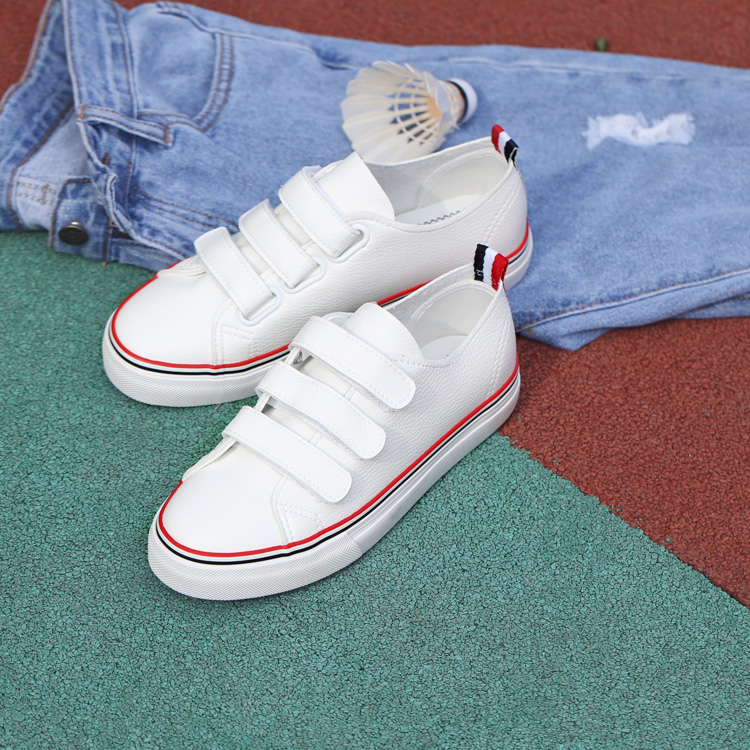 Fall within velcro leather shoes white shoes female korean student ms. casual shoes canvas shoes female korean shoes shoes