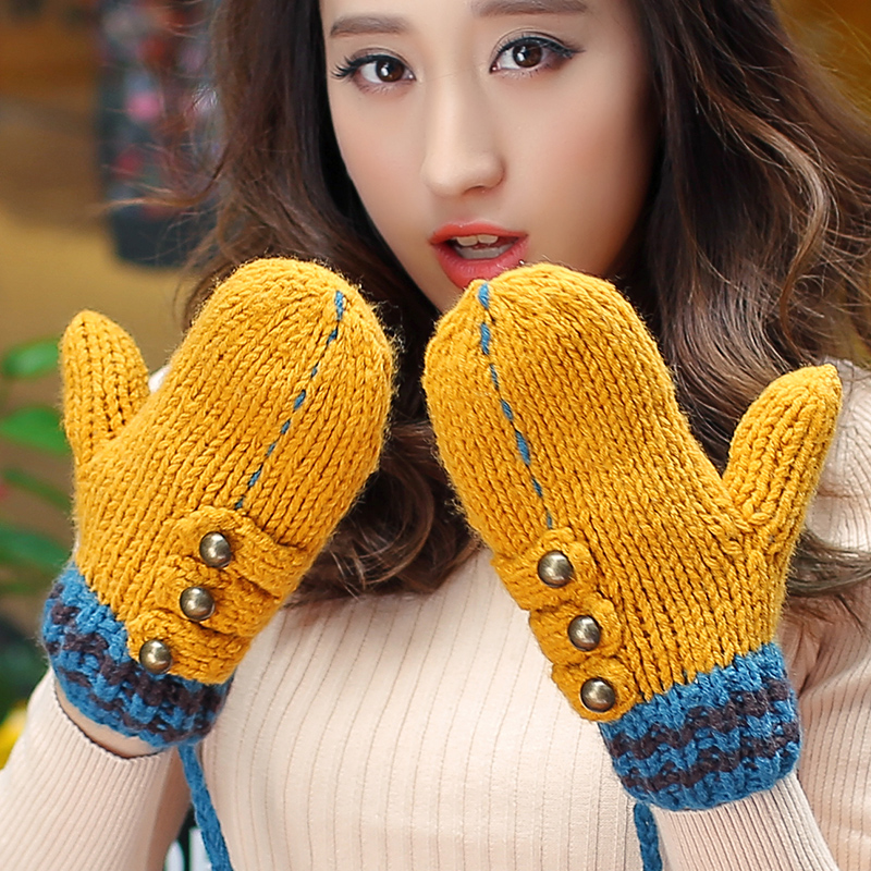 Fallon expensive rok tide fashion lady warm winter gloves female autumn and winter days double cashmere wool gloves