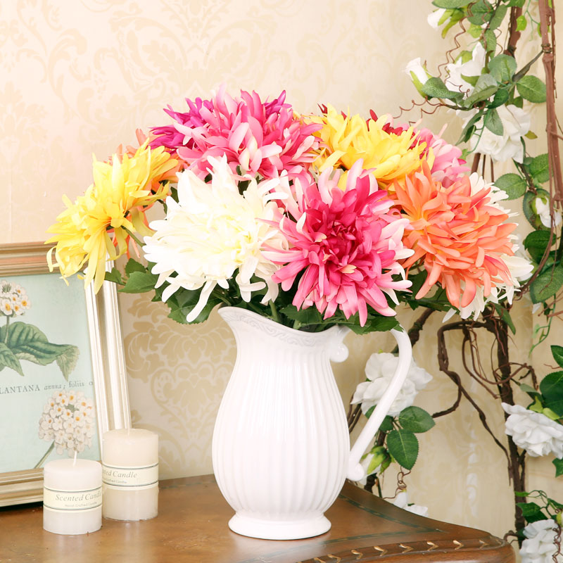 Fan · makeup home decorative flower garden style creative desktop decoration flower artificial flowers artificial flowers single branch edo chrysanthemum