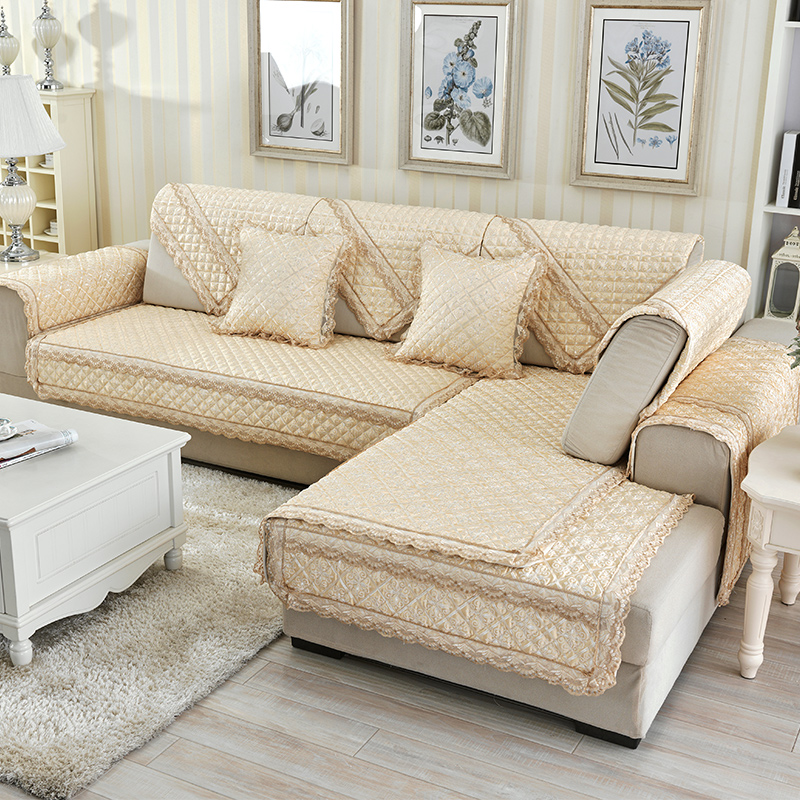 Finest Get Quotations Fan Wei Textile Double Jacquard Lace Summer Fabric  Sofa Cushion Cushion Slip Minimalist Modern Slipcover Sofa With Couch Wei  Beige