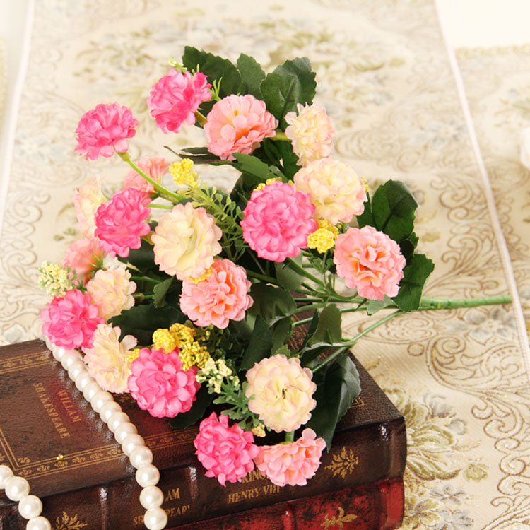 Fans makeup contadino beautiful floral silk flower artificial flowers decorative flowers artificial flowers artificial flowers single beam chrysanthemum flowers