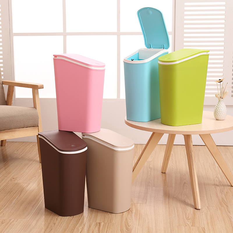 Fashion creative hand by opening the lid trash can with a lid household toilet toilet bedroom living room kitchen trash can