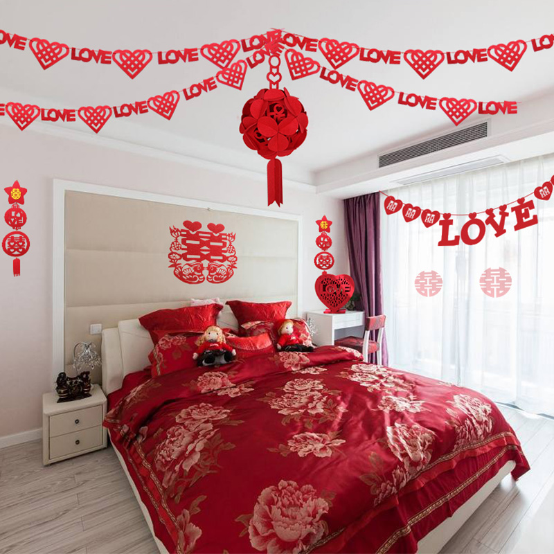 Fashion creative wedding supplies furnished new house wedding marriage room decoration garland ornaments package