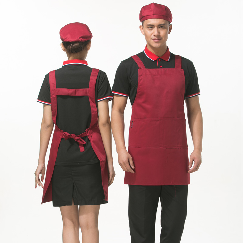 Fashion halter kitchen aprons apron supermarket tea shop cafe restaurant waiter solid strap apron