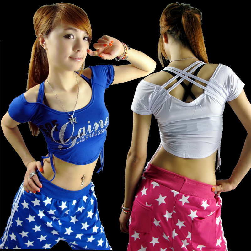 Fashion nightclub ds costumes ds lead dancer clothing blouse bronzing hip-hop hip-hop street dance costume costumes