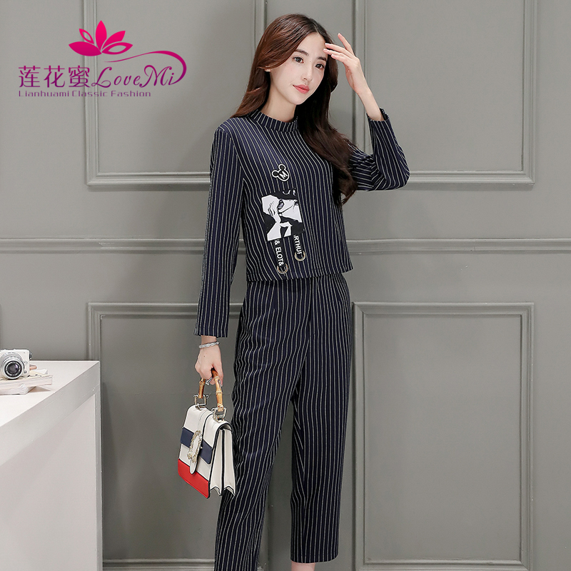 Fashion piece suit female 2016 hitz korean version was thin women's long sleeve suit leisure suit female