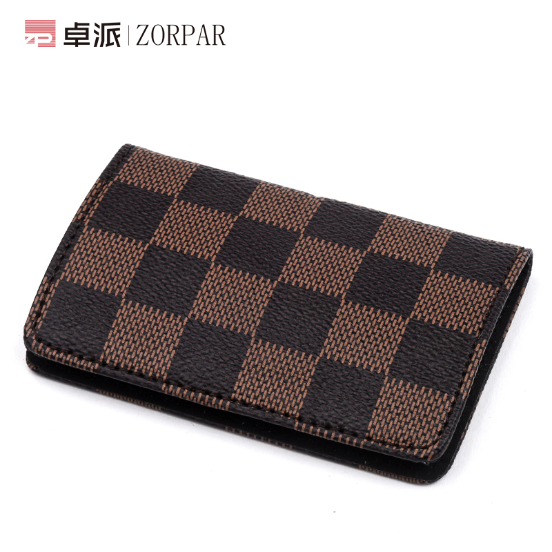 Fashion plaid personalized custom business card holder business card holder for men and women practical and creative metal business card holder card case large capacity