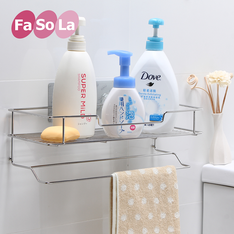 Fasola bathroom shelving racks stainless steel storage rack hair dryer rack towel rack towel rack triangle racks