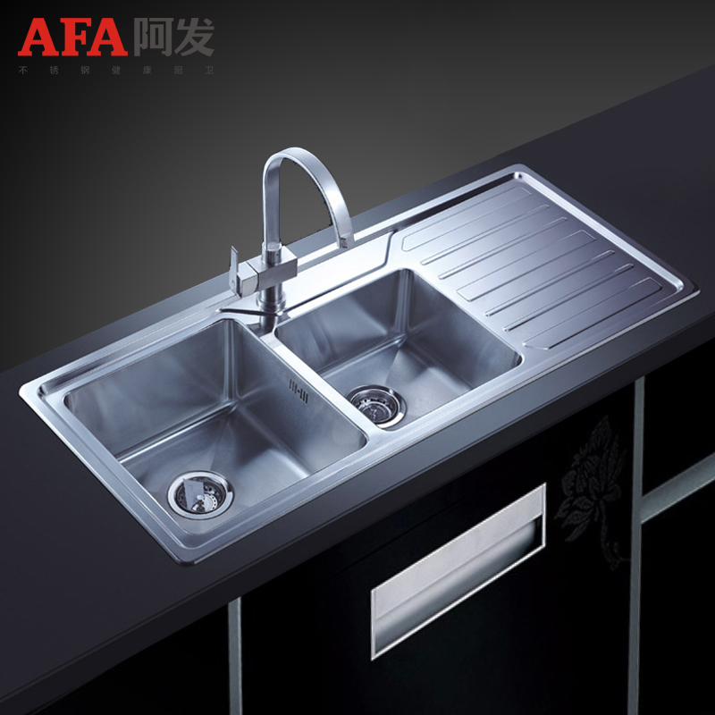 China stainless steel sink china stainless steel sink shopping get quotations fat 304 stainless steel kitchen sink basin dual slot package winged af 1150b vegetables basin workwithnaturefo