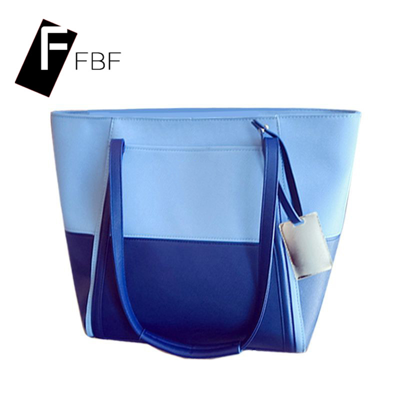 Fbf new hit color stitching handbag shoulder bag messenger bag ladies bag shopping bags outdoor youth 7749