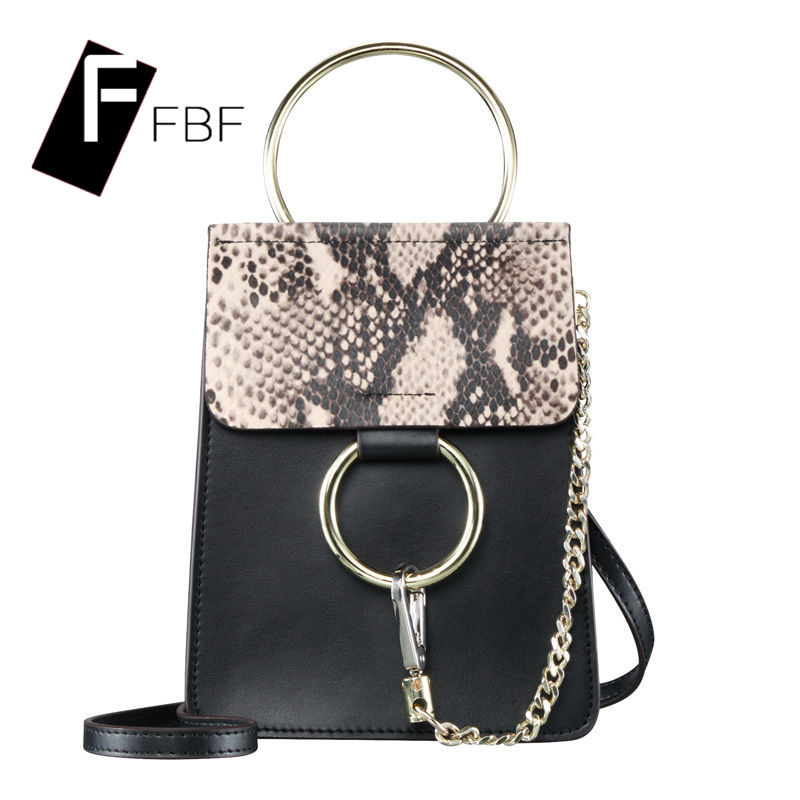 Fbf solid square cross section european and american first layer of leather chain bag ladies soft zipper single shoulder messenger bag 4448