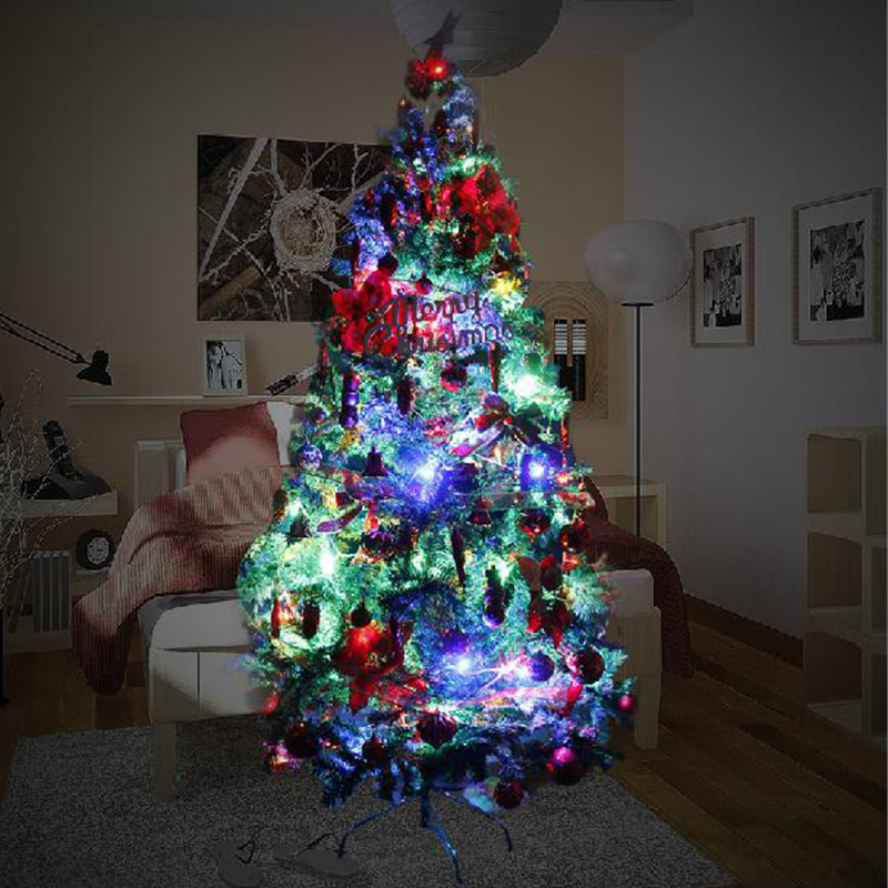 Feast of the classification of christmas tree package christmas tree with lights christmas night scene atmosphere decorative landscape