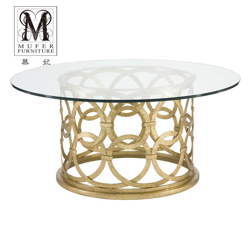 Fei mu end custom furniture european american neoclassical living room coffee table coffee table coffee table metal frame BH156