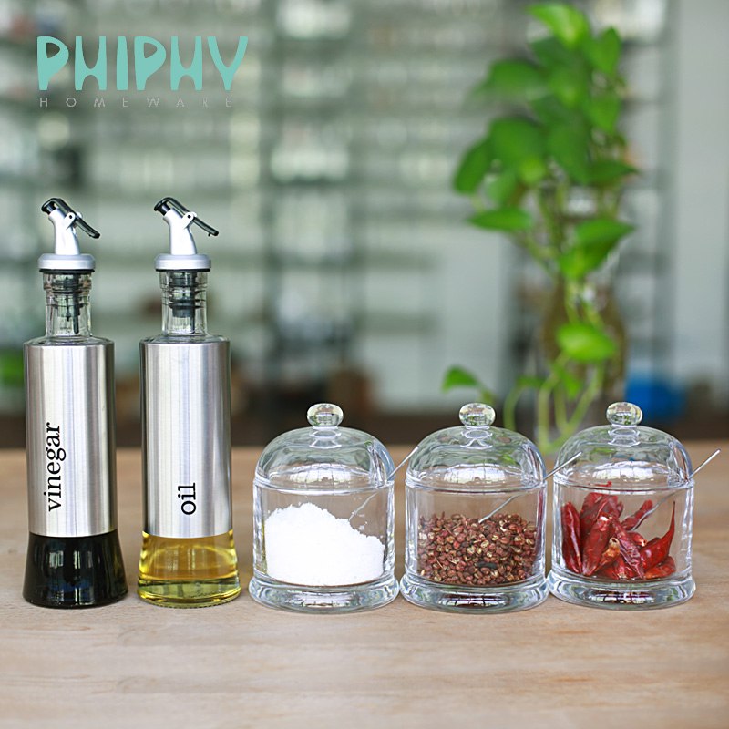 Feifei kitchen supplies kit seasoning spice jar seasoning salt shaker bottle glass oil bottle oiler soy sauce vinegar cruet bottle leakproof