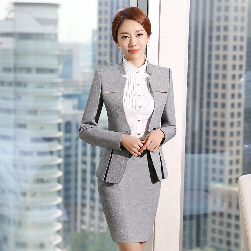 Feng qi love was thin 2016 autumn and winter long sleeve ladies dress suit chaps three suits sets west slim overalls