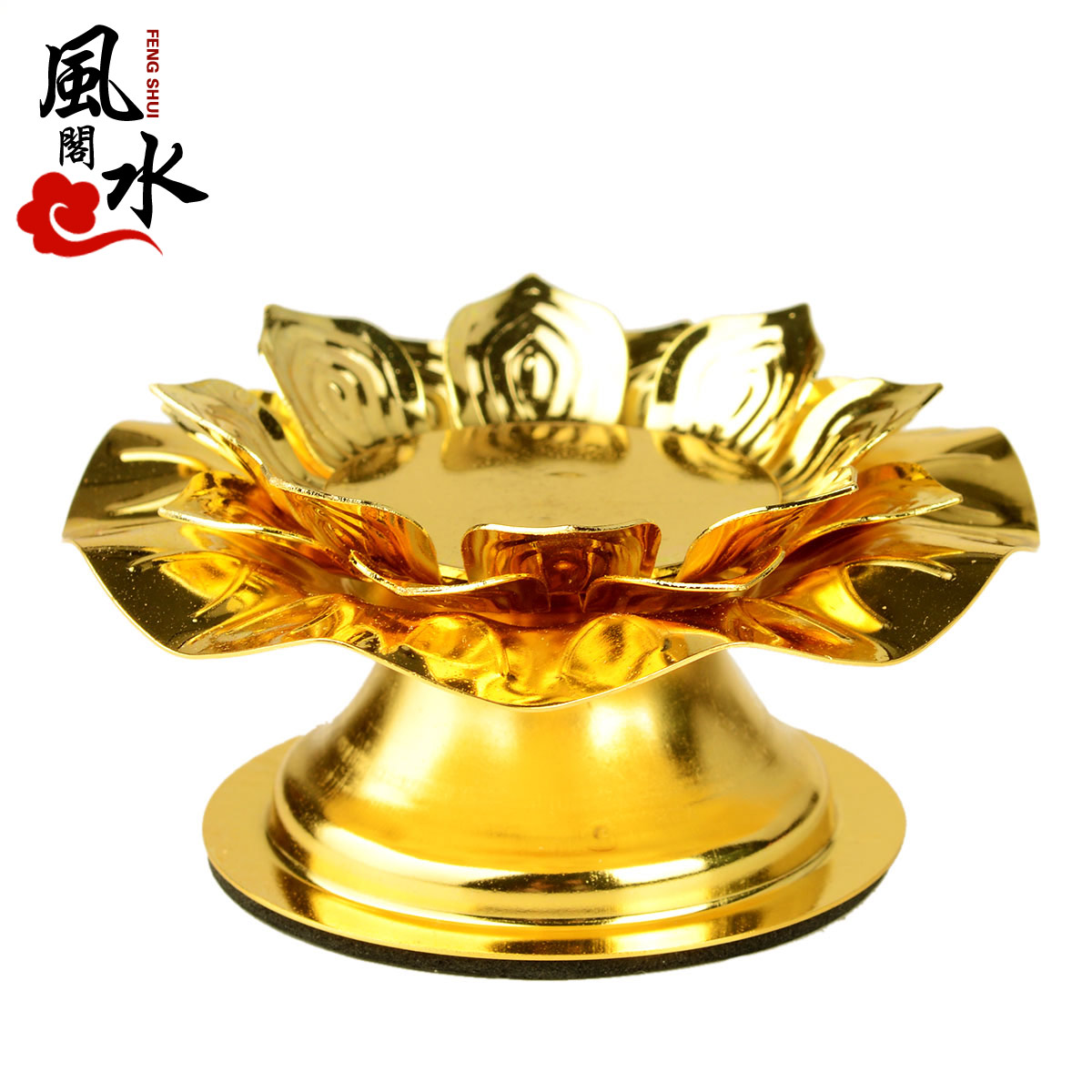 Feng shui court opening gold hollow lotus butter lamps lotus lamp holder butter lamps candle holder candlestick candlestick alloy candlestick