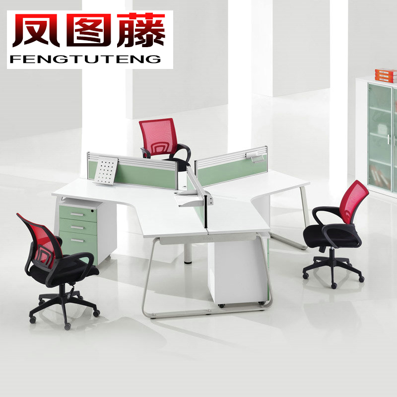Fengtu rattan modern minimalist office furniture simple 3 digit combination computer desk staff office desk computer desk staff