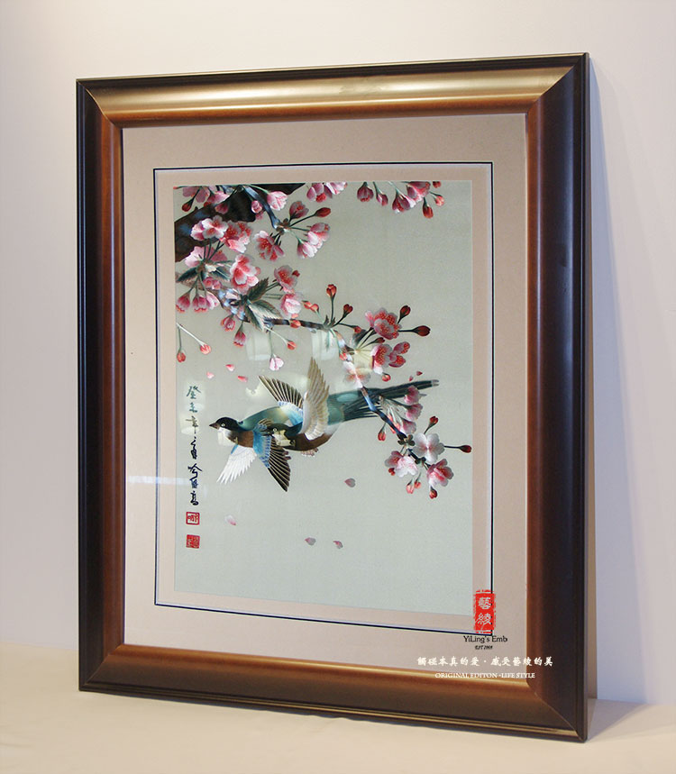 Figurative bird silk embroidery suzhou embroidery embroidery paintings fine embroidery embroidery handmade silk embroidery art booking section