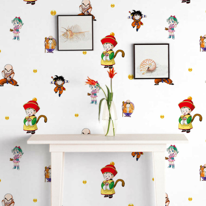 Figure dragon ball cartoon children's room wallpaper adhesive waterproof is not through the end of paper student dormitory wall stickers wall