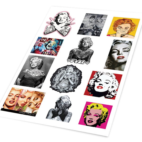 Figure marilyn monroe tide brand stickers personalized car stickers car decals waterproof creative interior car stickers affixed to the hot glue stick
