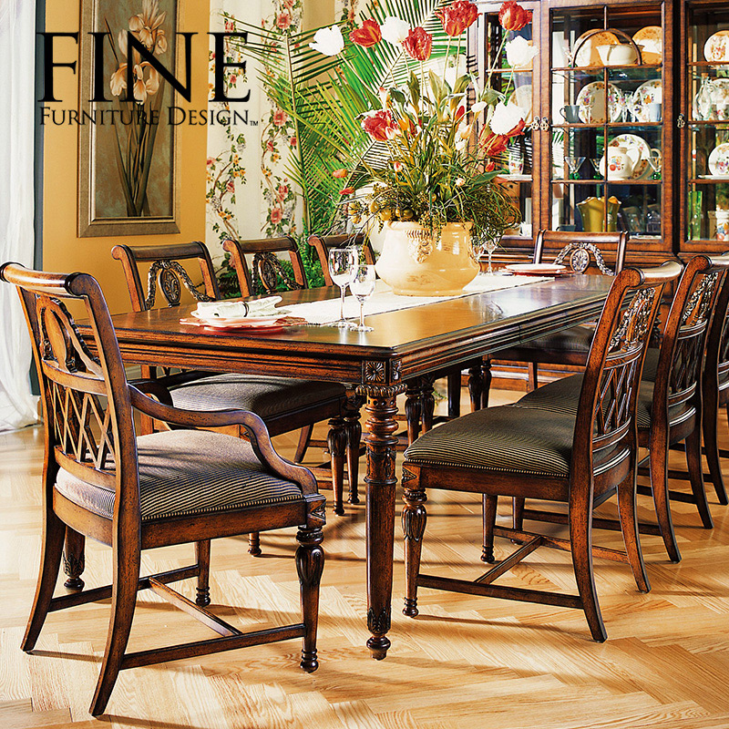 Fine refined traditional american furniture rustic dining chair solid wood frame a natural and elegant light fresh 410