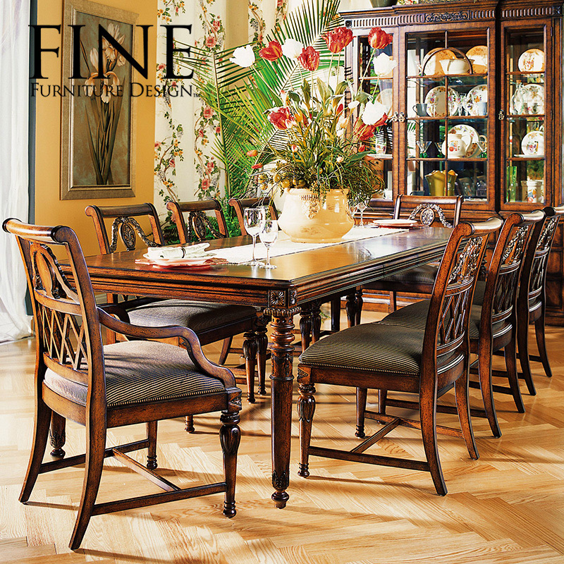Fine refined traditional american furniture rustic dining chair solid wood frame simple and stylish atmosphere of b 410