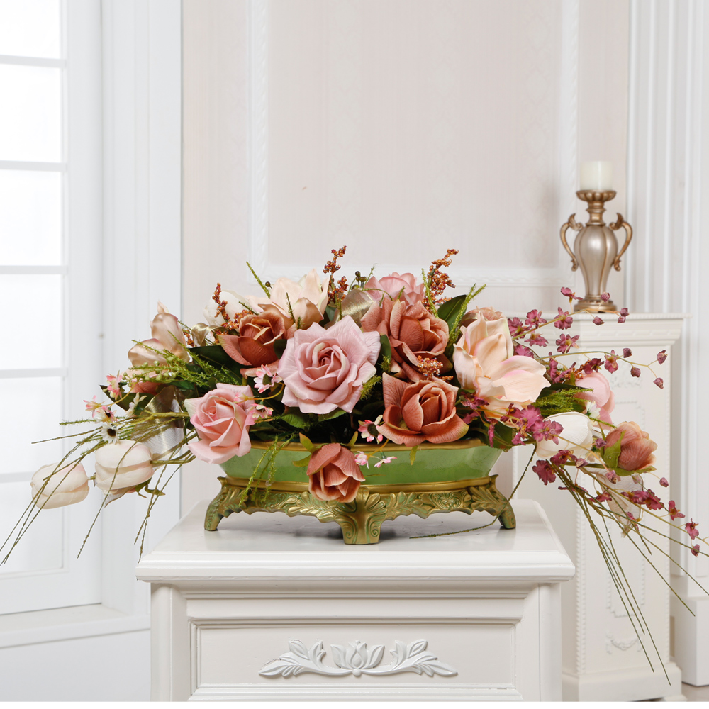 the office ornaments. Get Quotations · Finished Artificial Flowers Suit Conference Table Magnolia Floral Ornaments Decorate The Office O