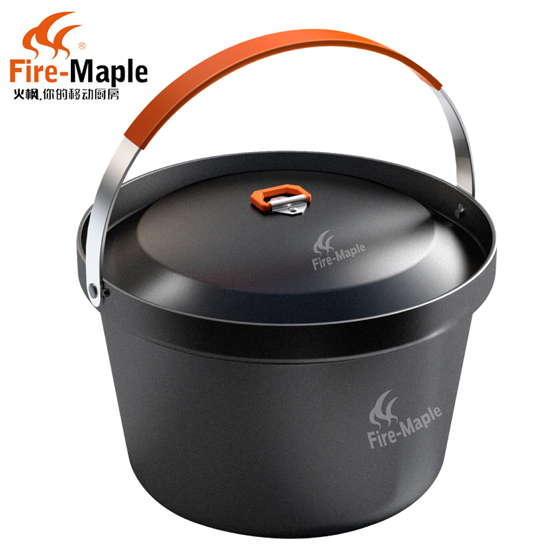 Fire maple outdoor feast four to six people burn large capacity cooker picnic camping cookware hanging pot aluminum pot pot meal