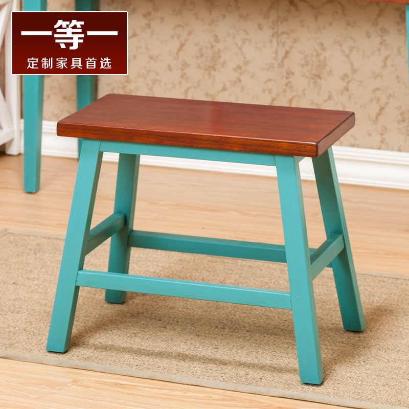 First a mediterranean solid wood bar stool simple meal stool stool changing his shoes small stool stool casual fashion