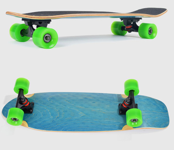 Fish fish fish plate banana board skateboard maple personality mini longboard retro scooter brush street road board shipping