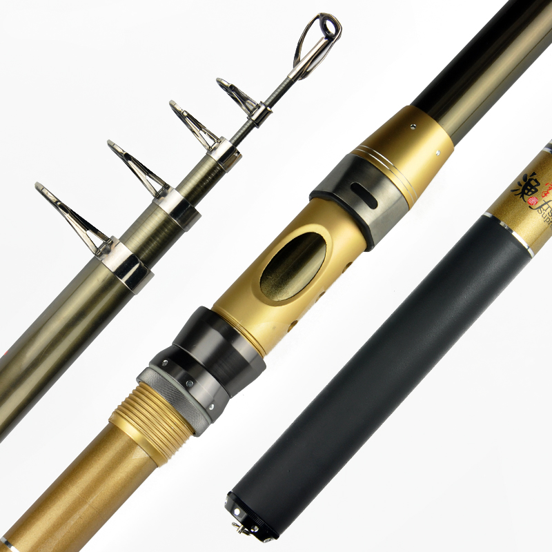 Fishing head anchor king of high carbon sea pole superhard long section 2.4/2.7/3.0/3.6 m parabolic pole pole bolt type Taiwan fishing rod