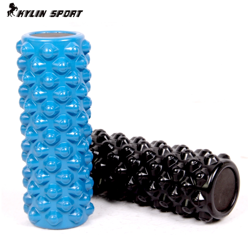 Fitness professional pu rubber spike foam roller yoga column depth massage muscle relaxation yoga stick
