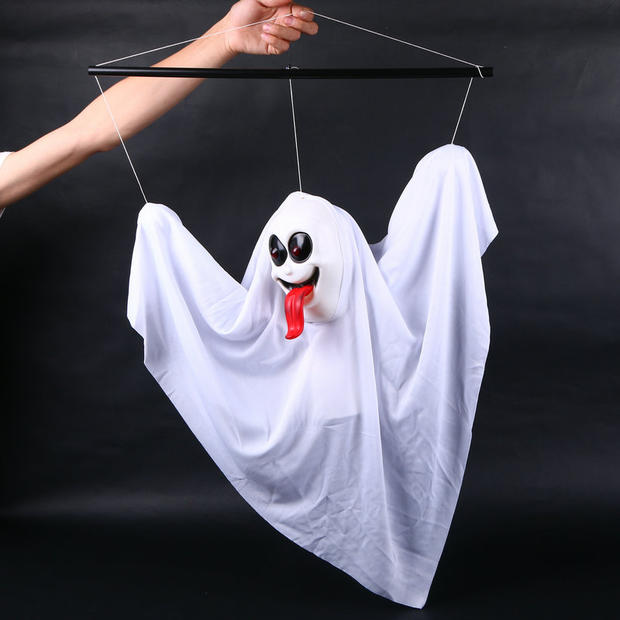 Five beshimova contention fuk halloween haunted house dress great white ghost ghost horror ghost hanging rods hanging ghost voice