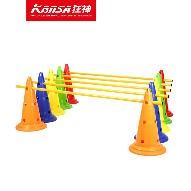 Flag football flags cylinder barrel mark signpost cone barricades cone obstacle training football equipment