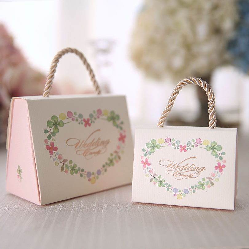 Flash euclidian printed personalized wedding candy box creative wedding candy box candy box carton gift bag of candy wholesale