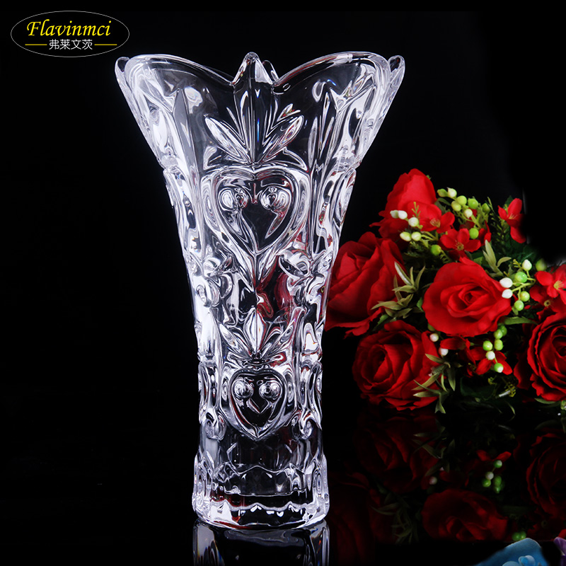Flavin mainz transparent glass vase lucky bamboo lily flower vase continental passenger hall decoration