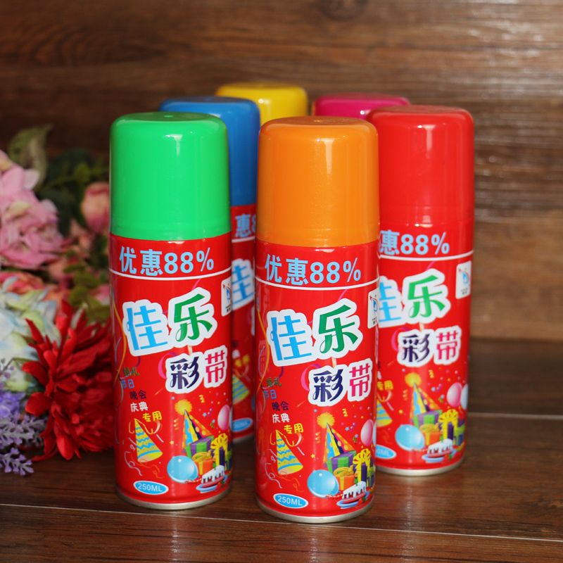 Flora married wedding supplies birthday christmas wedding ceremony wedding inkjet hand spray ribbon striped snow spray cans