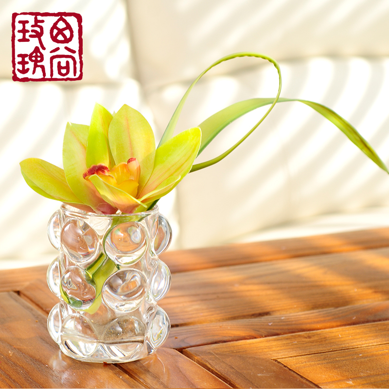 Floral table coffee table glass vase home decoration artificial flowers artificial flowers potted artificial flowers suit the living room decorative furnishings