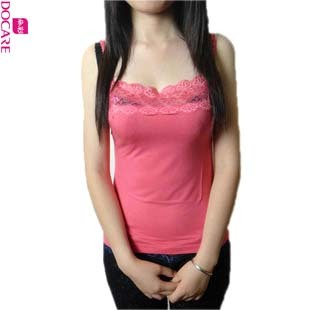 Flower color lace halter vest female modal bottoming shirt slim was thin DR3804 qing new loose vest