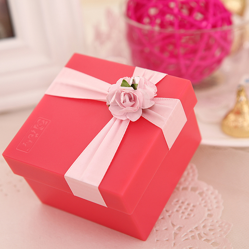 Flowers and a half years european resin rose red candy box creative wedding supplies wedding candy box wedding custom