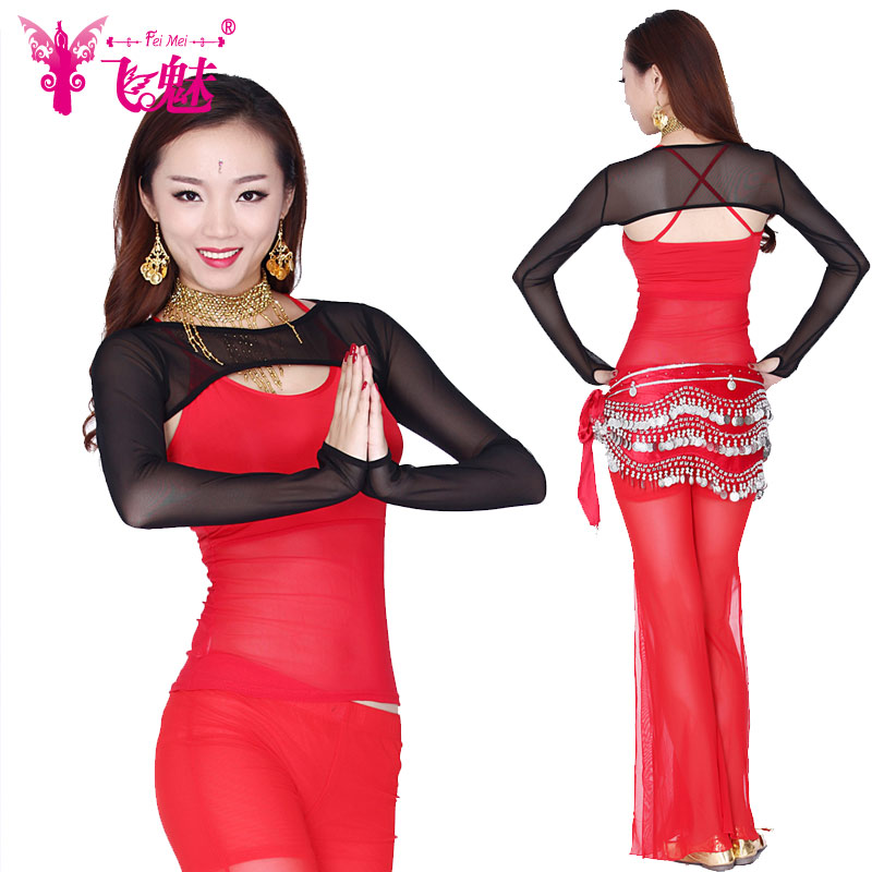 Fly charm belly dance belly dance clothing practice suit new winter long sleeve chiffon belly dance costumes