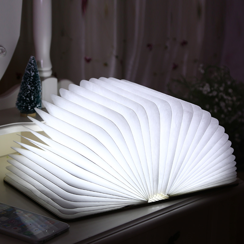Folding book light creative novelty gifts to send girls boyfriend wife teacher birthday gift table white teacher's day gift ideas and practical