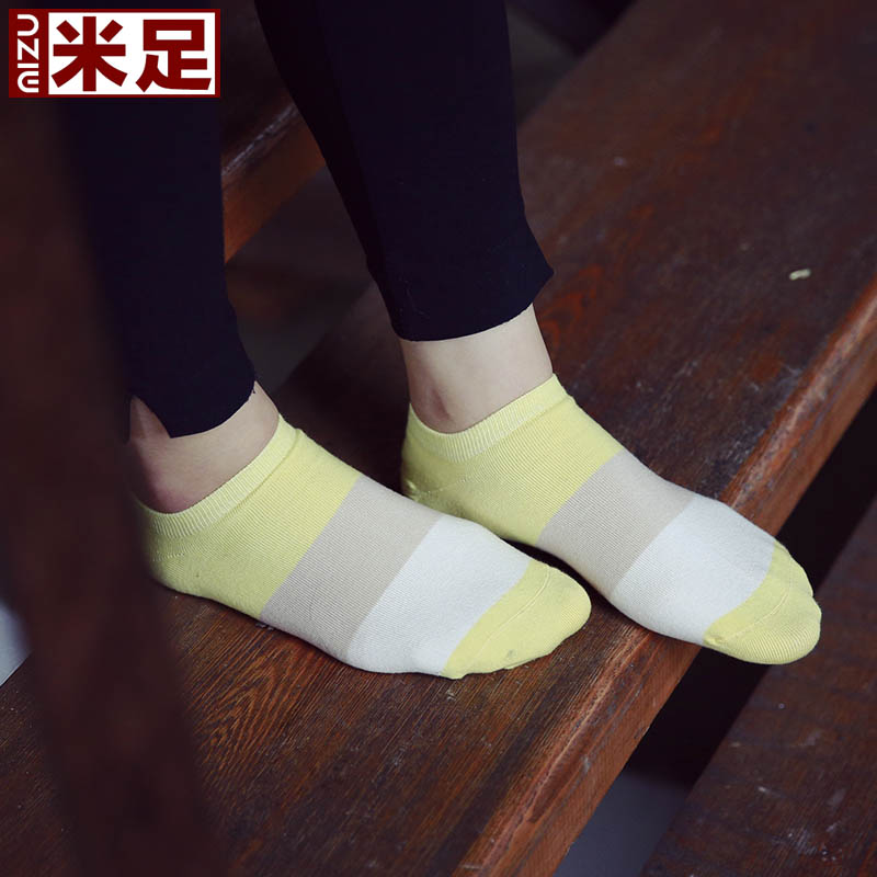 ç±³foot ms. spell color socks female socks summer thin section socks shallow mouth to help low leisure shipped move socks socks 5 pairs of boxed